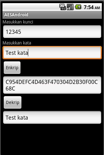 Aplikasi Enkripsi dan Dekripsi Menggunakan AES di Android