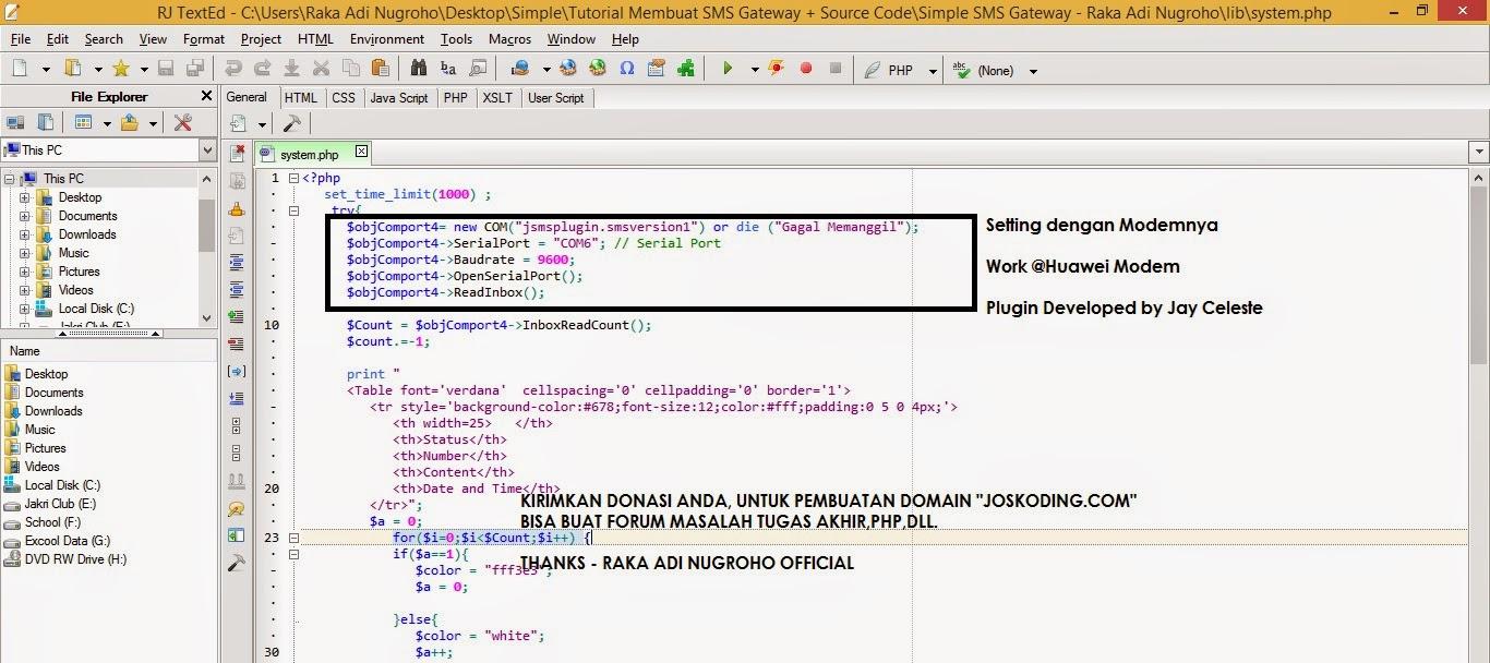 Source Code SMS Gateway Sederhana dengan PHP | Computer Science